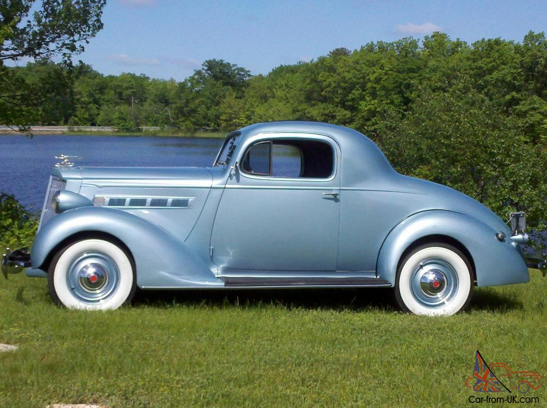 37 PACKARD 3 WINDOW BUSINESS COUPE  LIGHT BLUE Photo