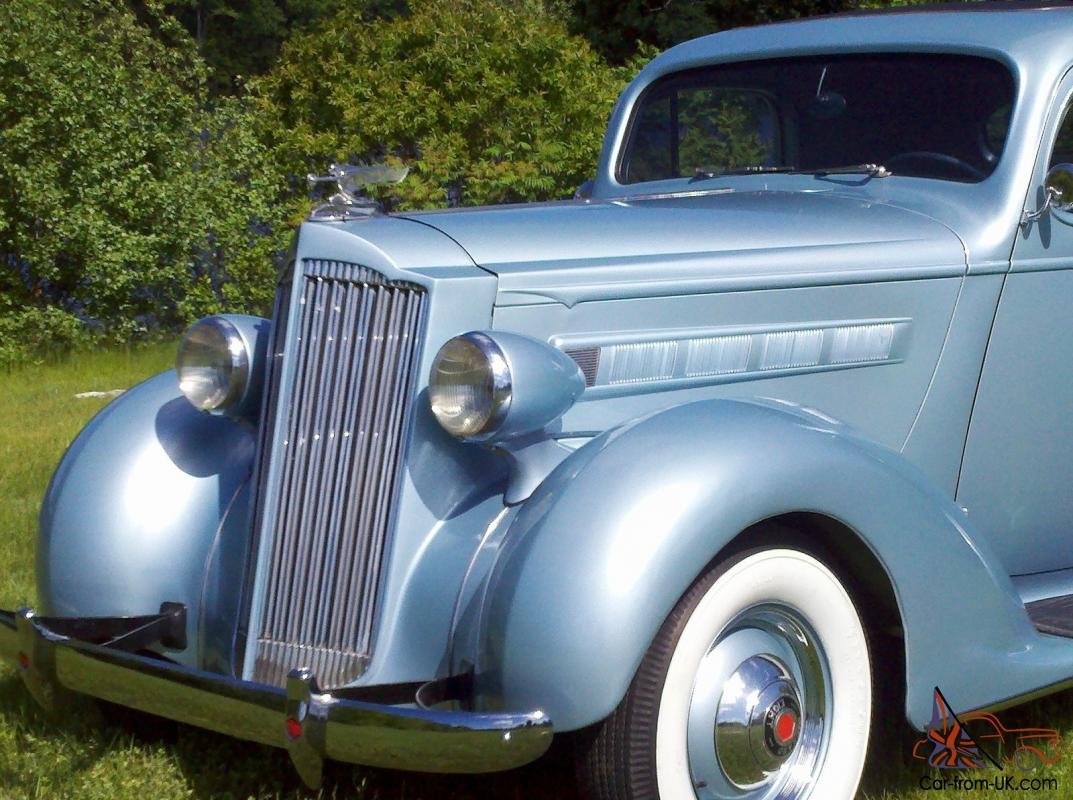 37 Packard 3 Window Business Coupe Light Blue