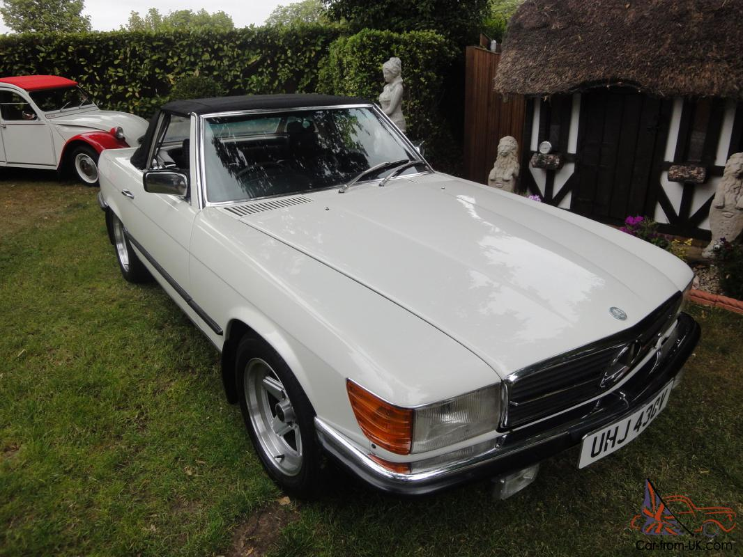 1980 mercedes 450 sl auto white 107 restored. Black Bedroom Furniture Sets. Home Design Ideas