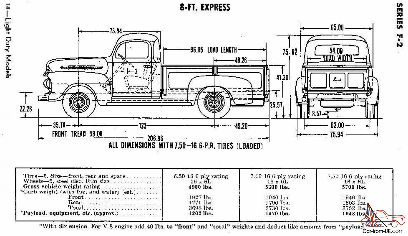 Ford F  Truck Bed Dimensions