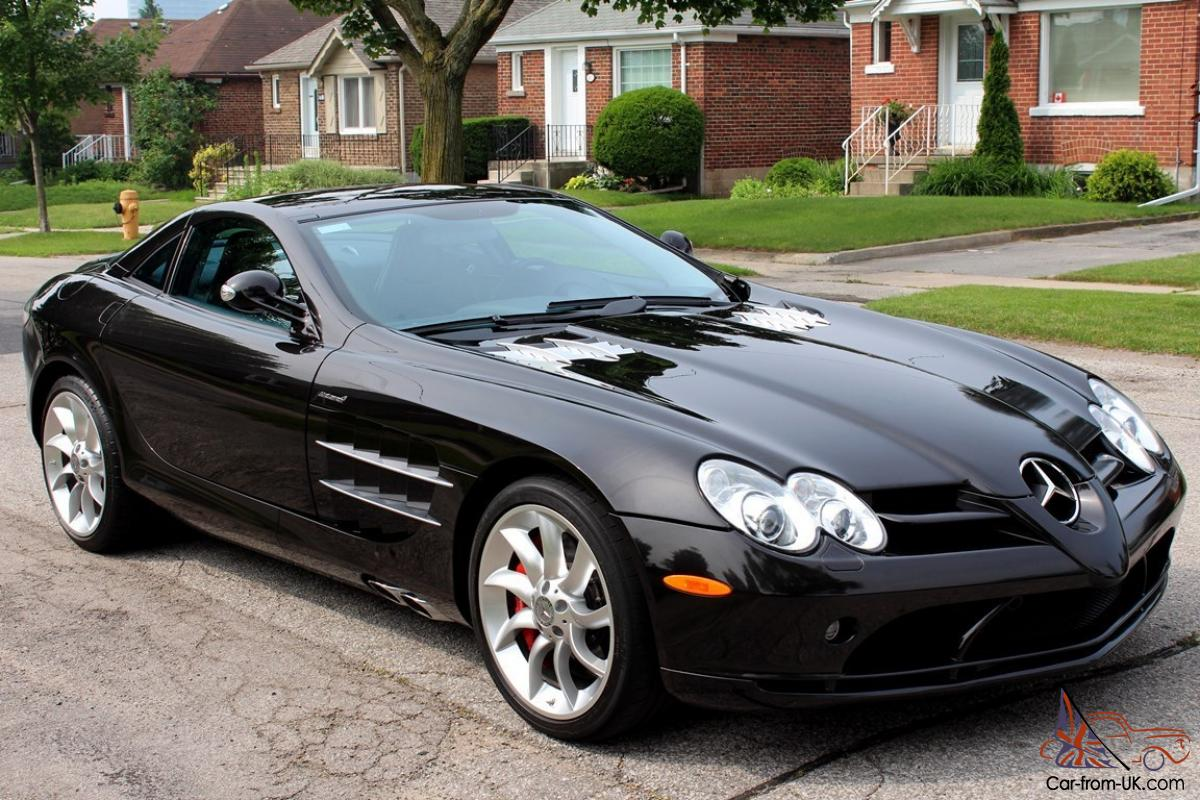 2006 mercedes benz slr mclaren supercar black on black