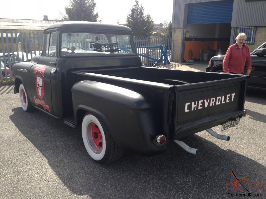 chevrolet 3100 sidestep pickup 1957 rat rod hot rod no. Black Bedroom Furniture Sets. Home Design Ideas