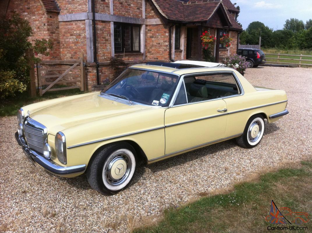 Mercedes w114 coupe 280ce 280se convertible pillarless for Mercedes benz coupe for sale