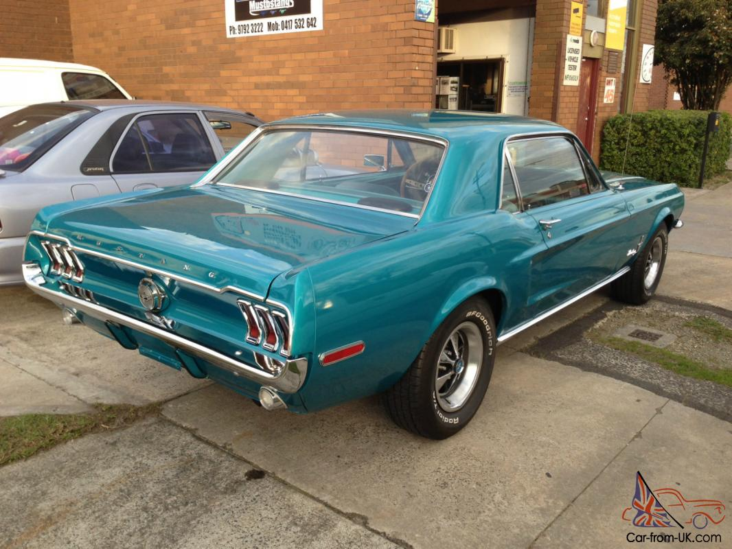 1968 ford mustang coupe blue v8 302 c4 automatic in melbourne vic. Black Bedroom Furniture Sets. Home Design Ideas