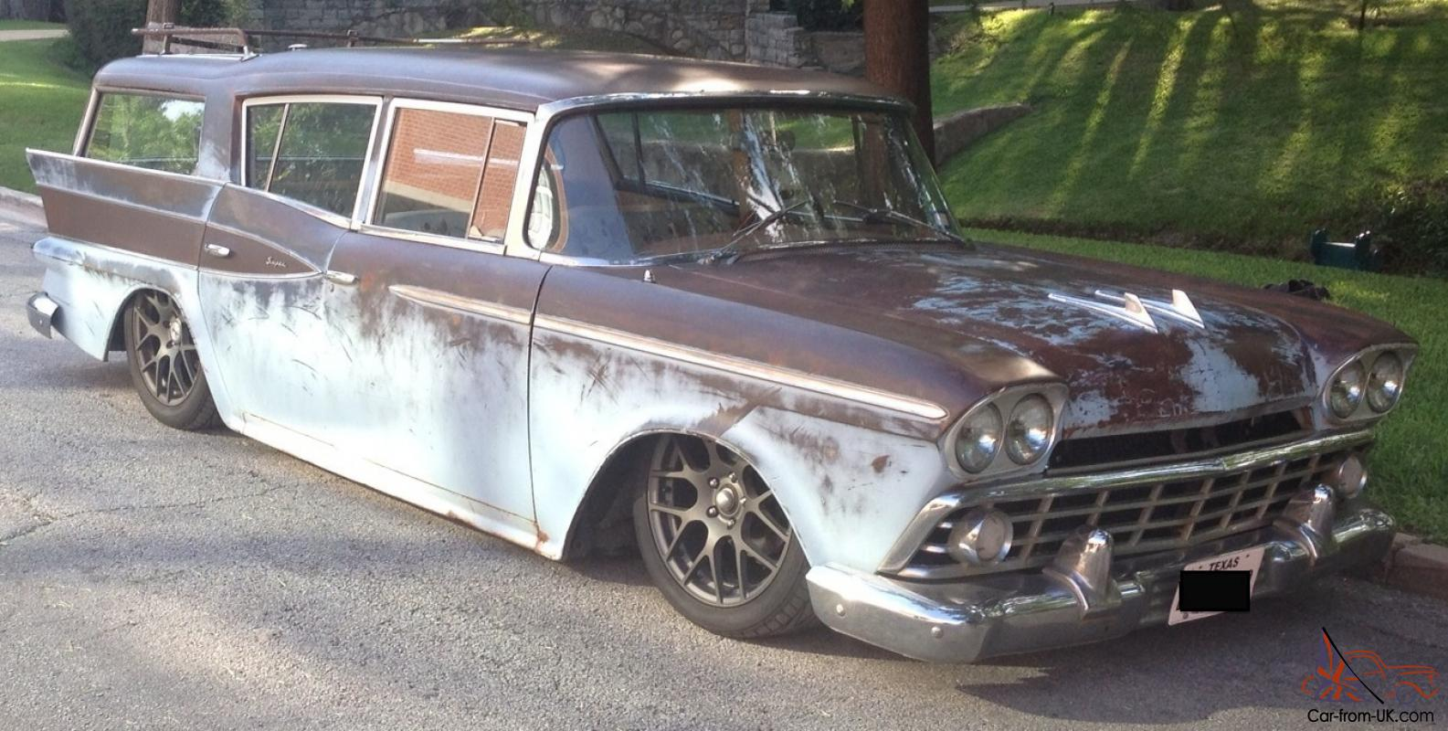 Gas Monkey Cars For Sale Ebay >> 1959 AMC Rambler Cross Country Wagon Rat Rod