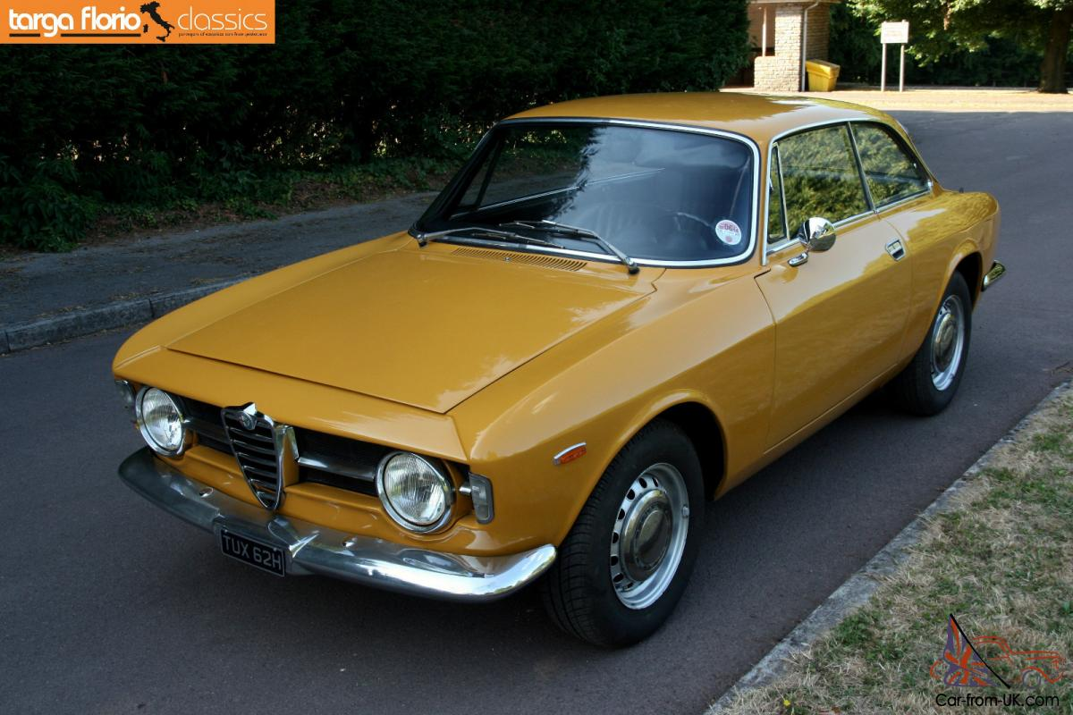 alfa romeo gt junior 1300 giulia bertone step front giallo ocra 1970. Black Bedroom Furniture Sets. Home Design Ideas