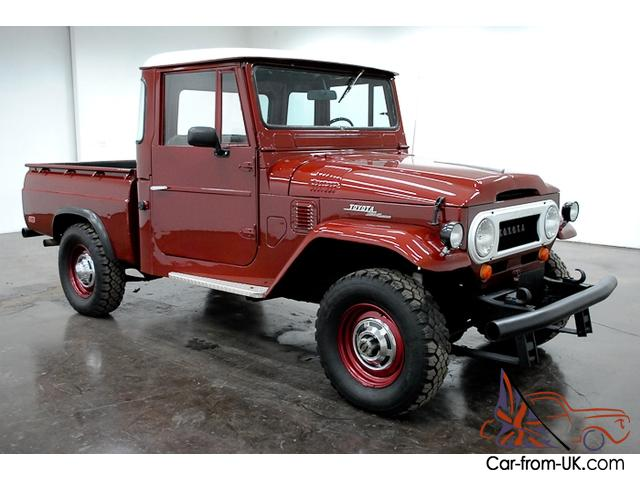 1965 toyota fj pickup 4x4 6 cylinder 4 speed manual bench seat have to see this. Black Bedroom Furniture Sets. Home Design Ideas
