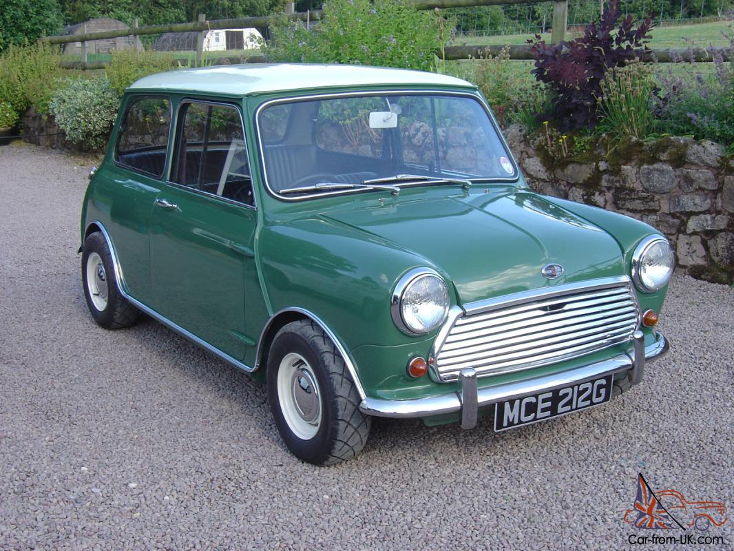 1969 mk2 austin mini cooper s almond green with snowberry. Black Bedroom Furniture Sets. Home Design Ideas