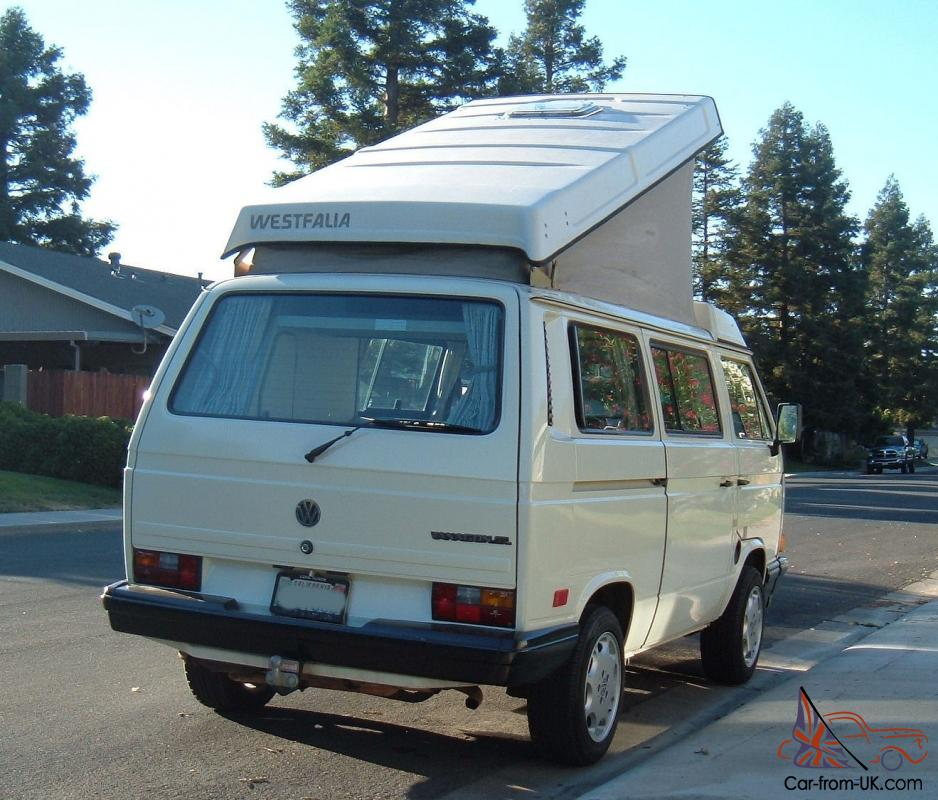 1988 vw westfalia camper california rust free van no. Black Bedroom Furniture Sets. Home Design Ideas