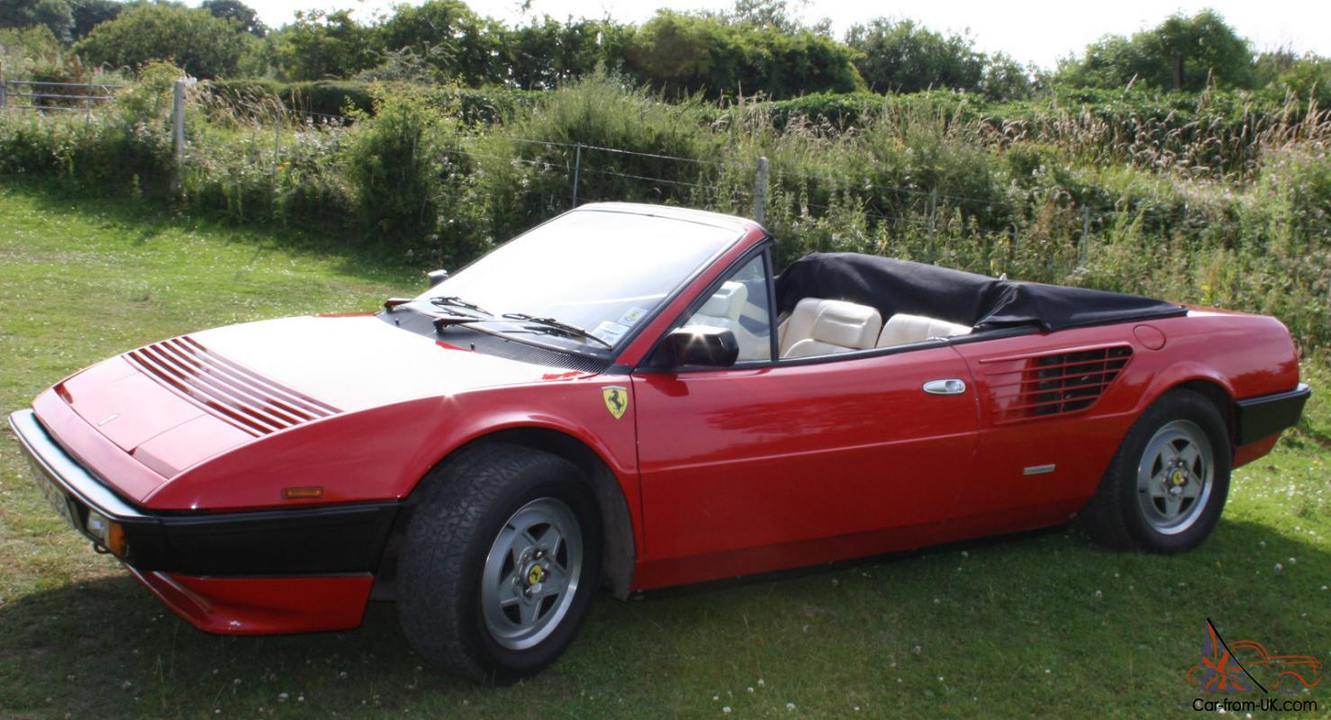 ferrari mondial 1985 3 0 qv cabriolet. Black Bedroom Furniture Sets. Home Design Ideas