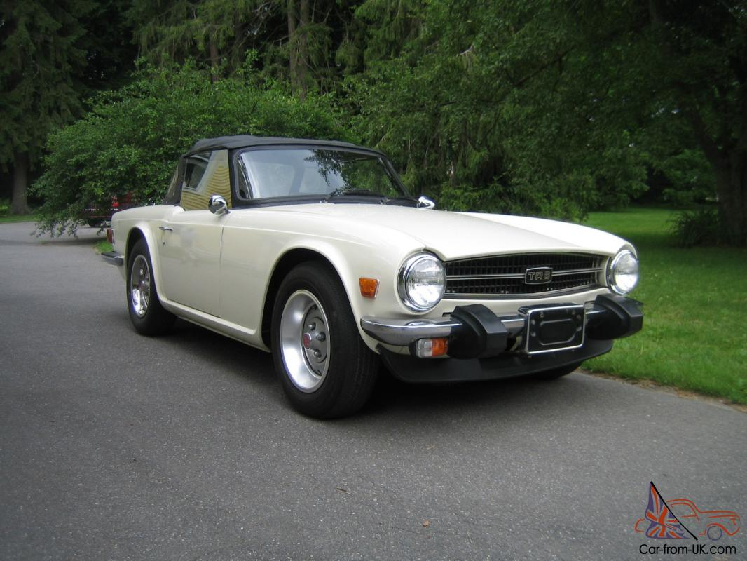 1975 triumph tr6 roadster old english white outstanding restored car. Black Bedroom Furniture Sets. Home Design Ideas