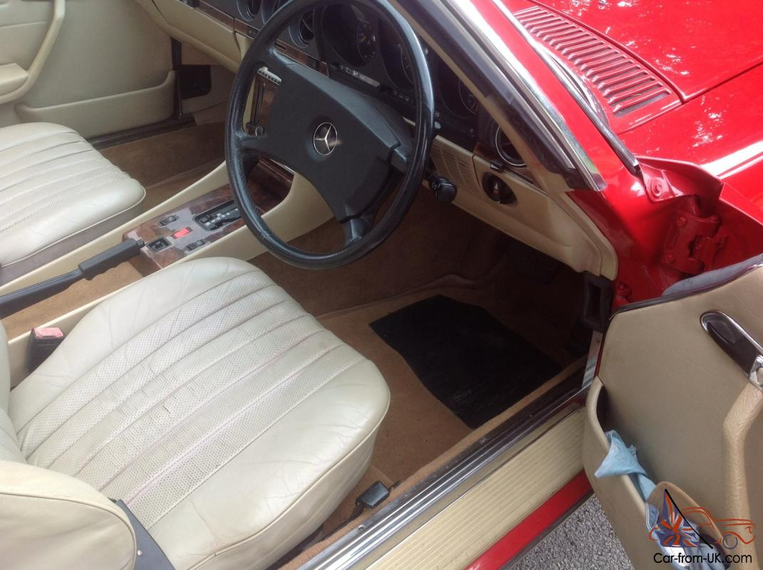 Mercedes benz 500 sl with rear seats r107 for Mercedes benz seats for sale
