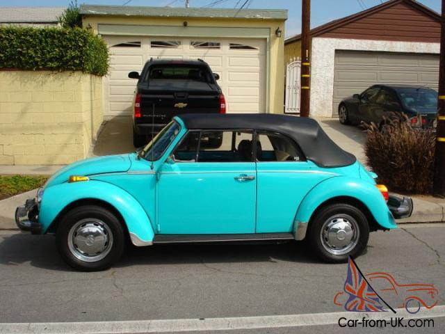 Clic 79 Convertible Vw Bug Cali Car Rust Free 2owner Reliable Vintage Driver