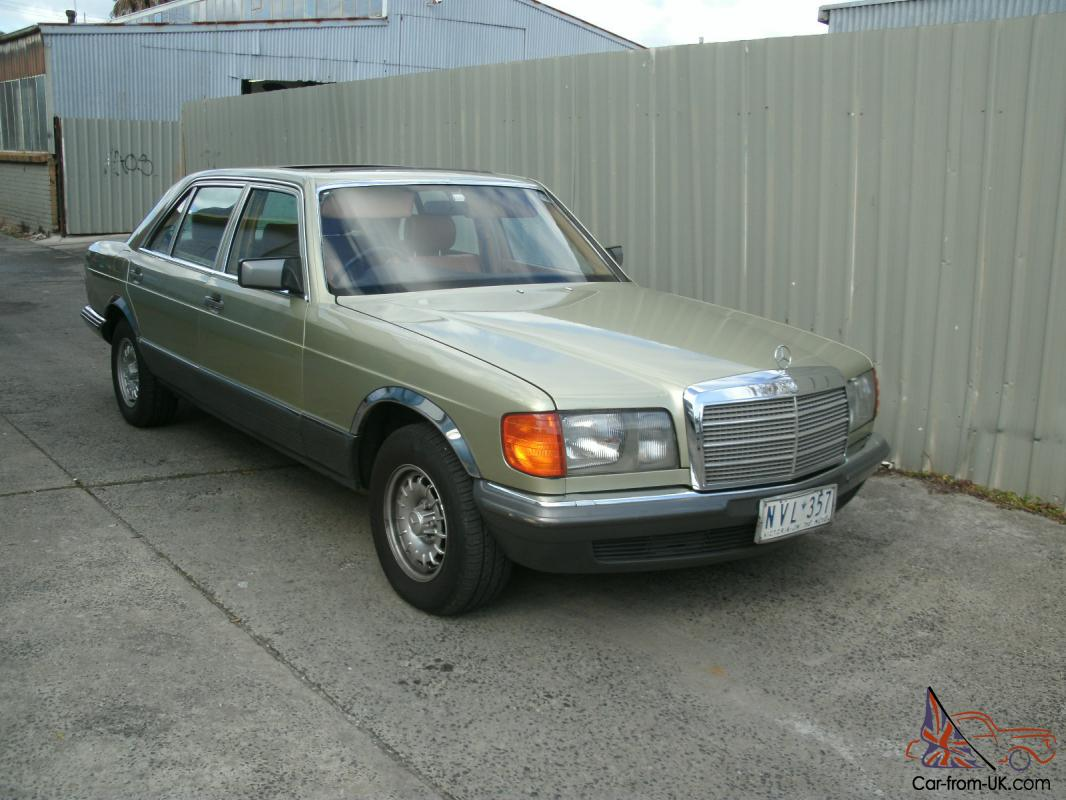 1982 mercedes benz 380sel australian delivery road worthy for Mercedes benz inspection cost