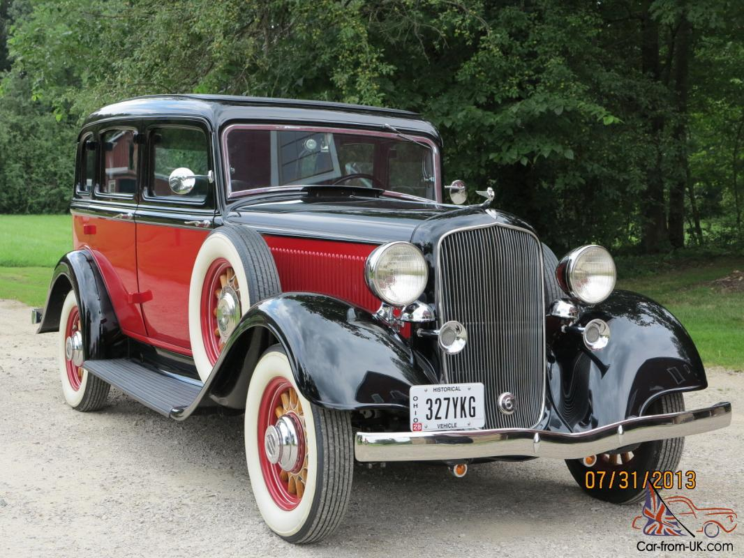 1933 plymouth pd 4 door sedan fully restored mint a