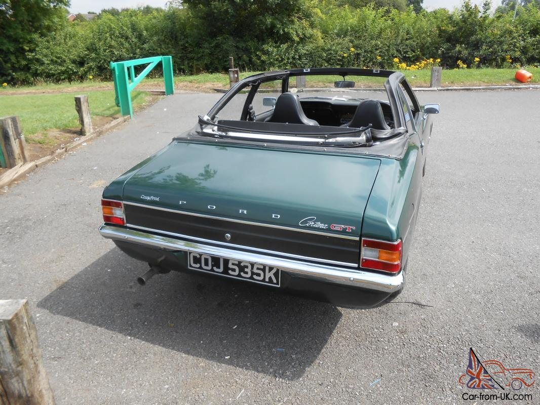 Ford cortina mk111 1600 gt green crayford convertible 1972 for sale