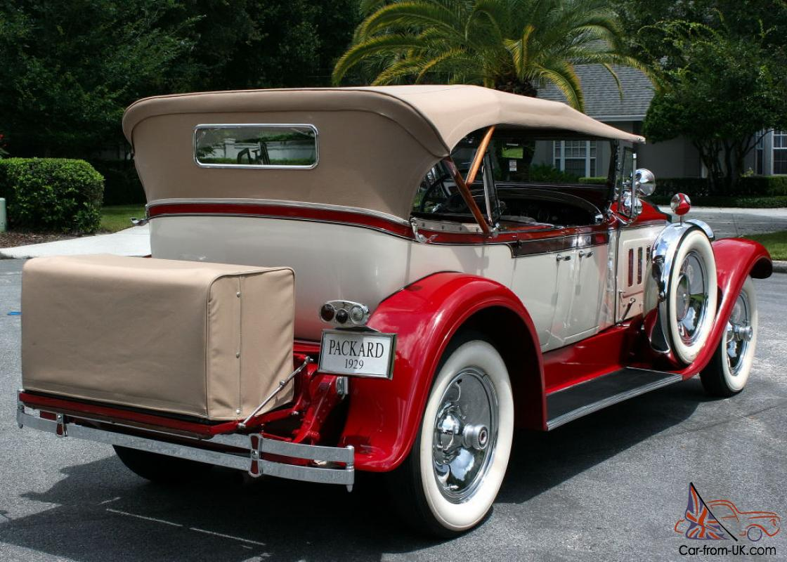1929 Packard Touring Car For Sale: FORMER AACA NATIONAL FIRST PLACE