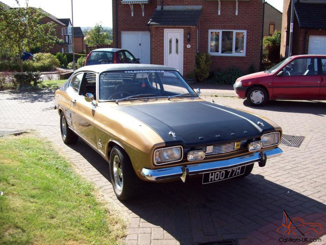 1970 ford capri 2000 gt xlr gold 20 922 miles from new genuine. Black Bedroom Furniture Sets. Home Design Ideas