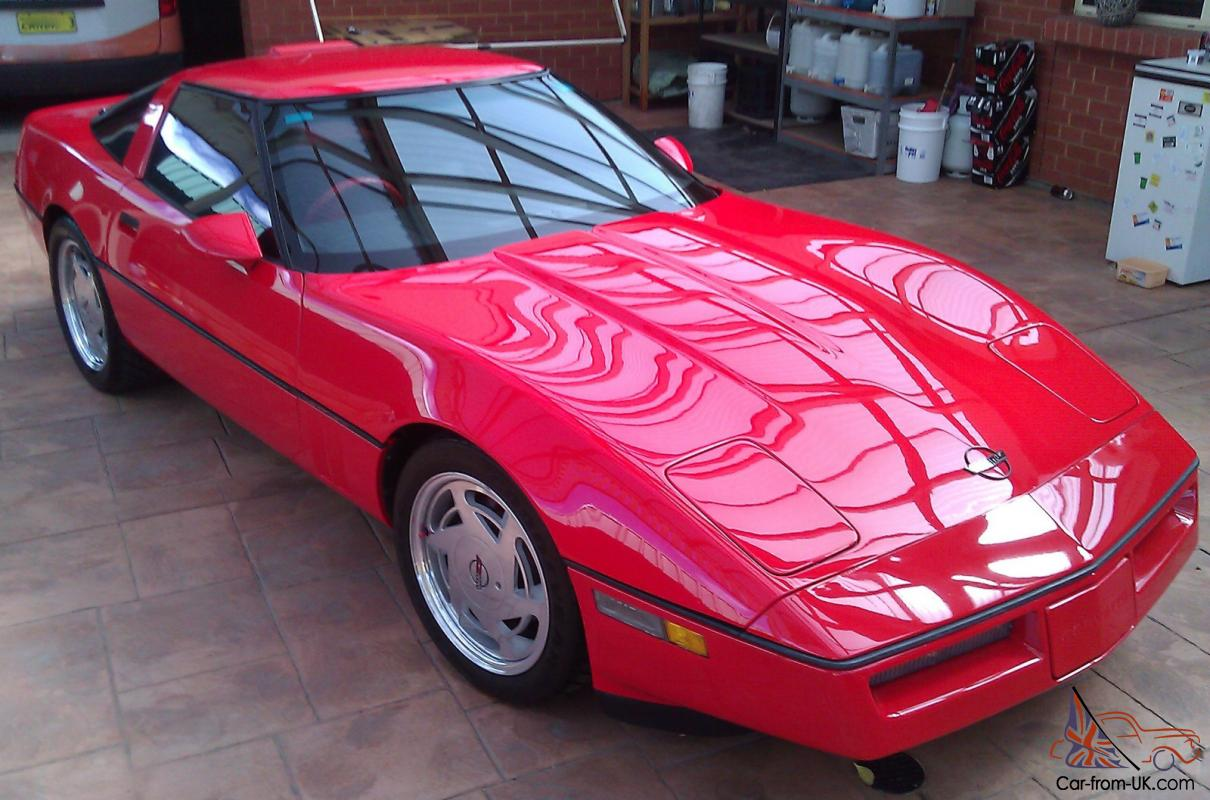 1989 c4 chevrolet corvette coupe red classic colectors car show car custom in adelaide sa. Black Bedroom Furniture Sets. Home Design Ideas