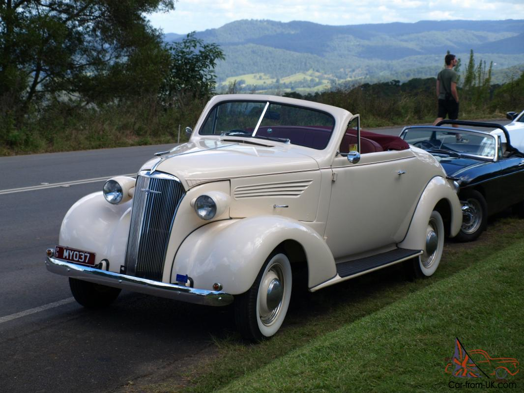 Chevrolet 1937 Convertible Roadster Rare Australian Built BY Holden