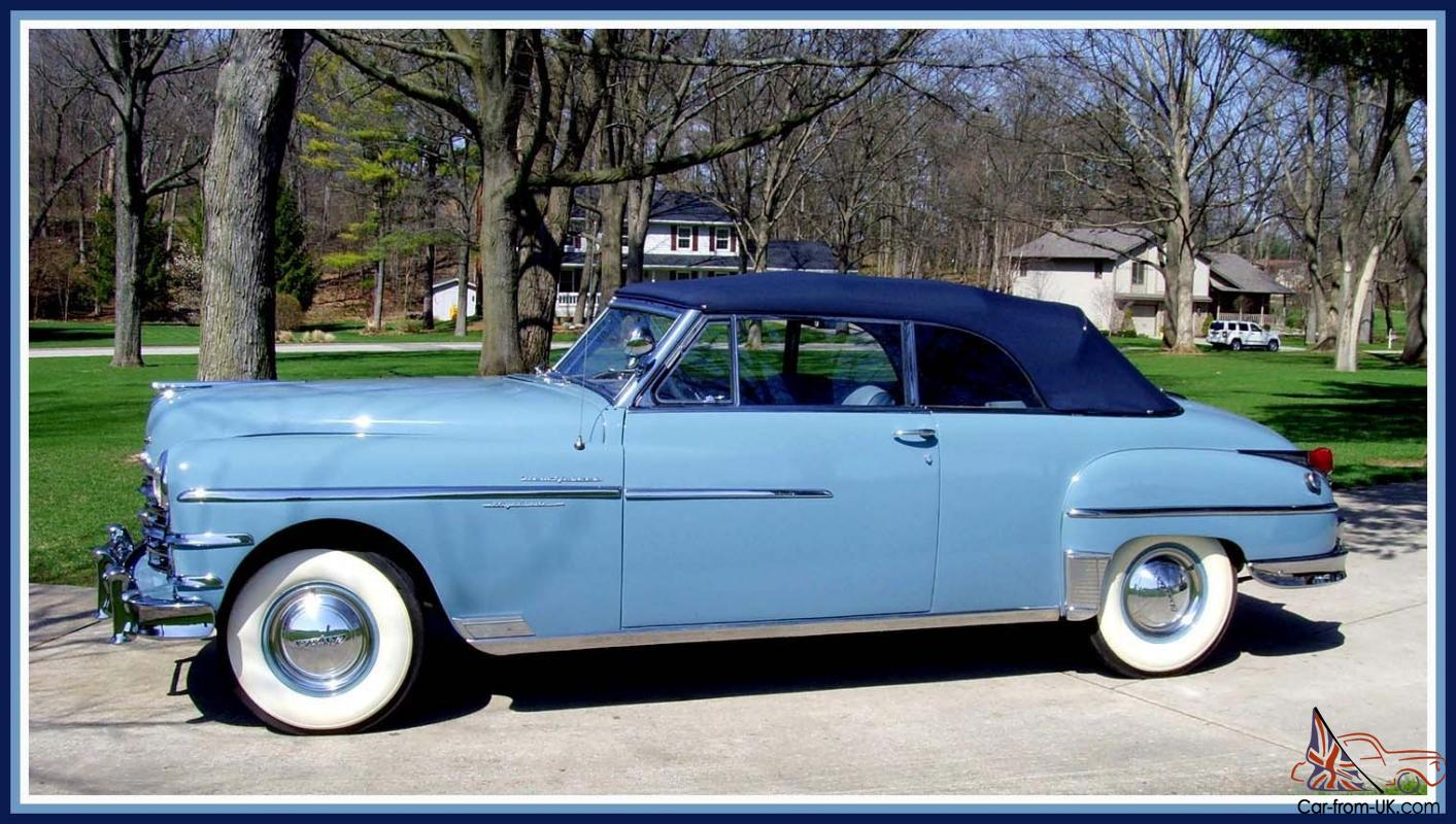 1949 Chrysler New Yorker Convertible Body Off Restoration Beautiful Town Country Must See