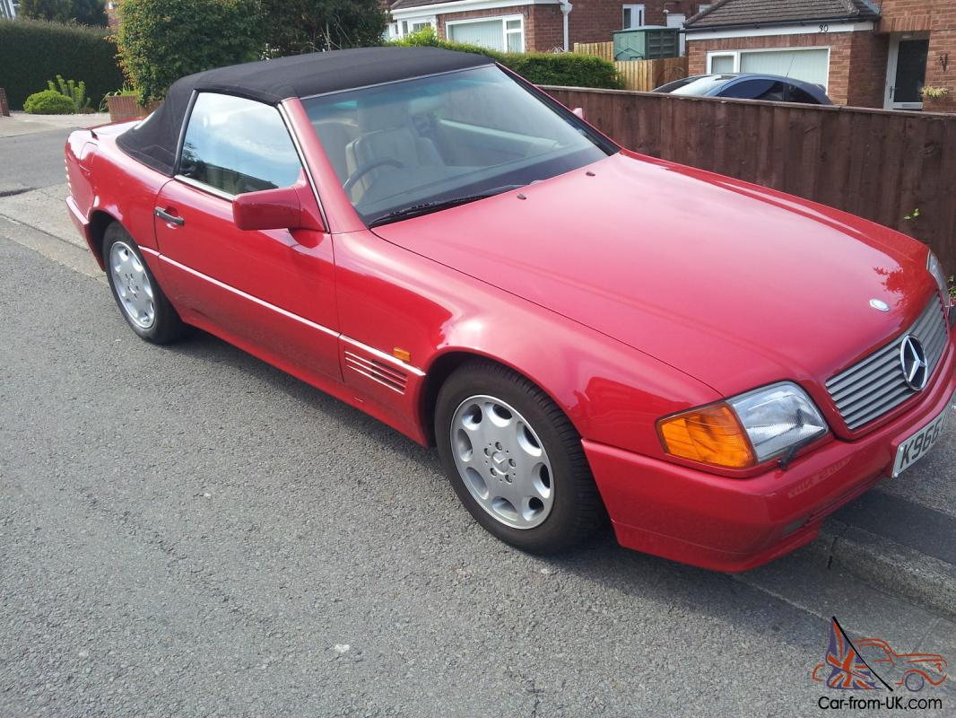 1993 mercedes 300sl auto red excellent condition for 1993 mercedes benz 300sl