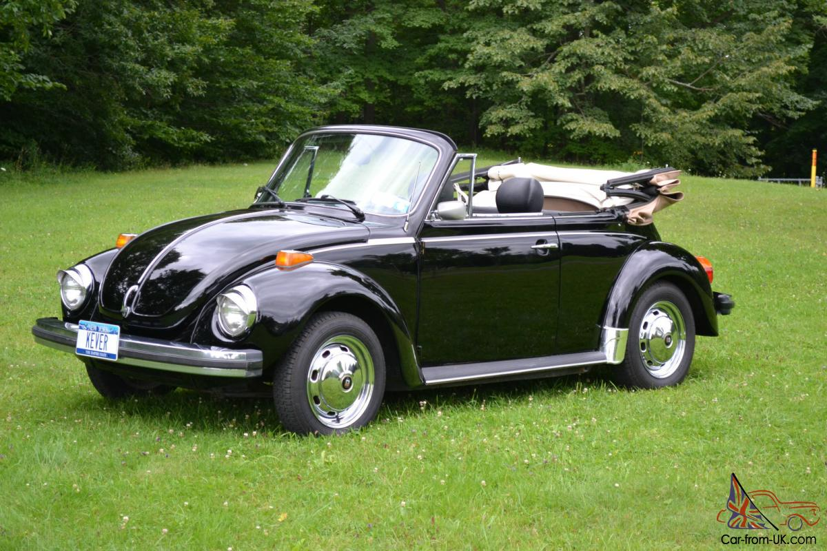 1979 super beetle convertible tip top shape vw bug convertable. Black Bedroom Furniture Sets. Home Design Ideas