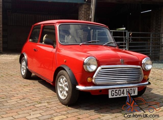1990 Rover Mini Racing Flame Checkmate Classic Red Low