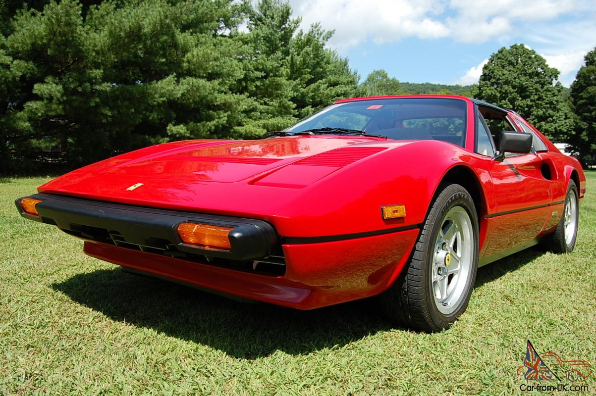 1985 ferrari 308 gts qv red with tan interior fully completely serviced. Black Bedroom Furniture Sets. Home Design Ideas
