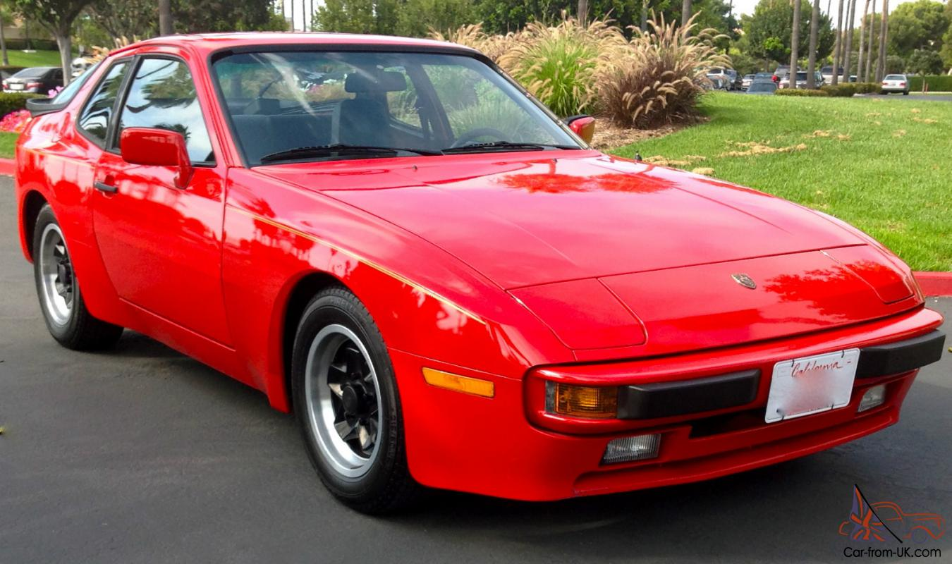 1983 Porsche 944 Coupe Red All Original 5 Spd A C 9687