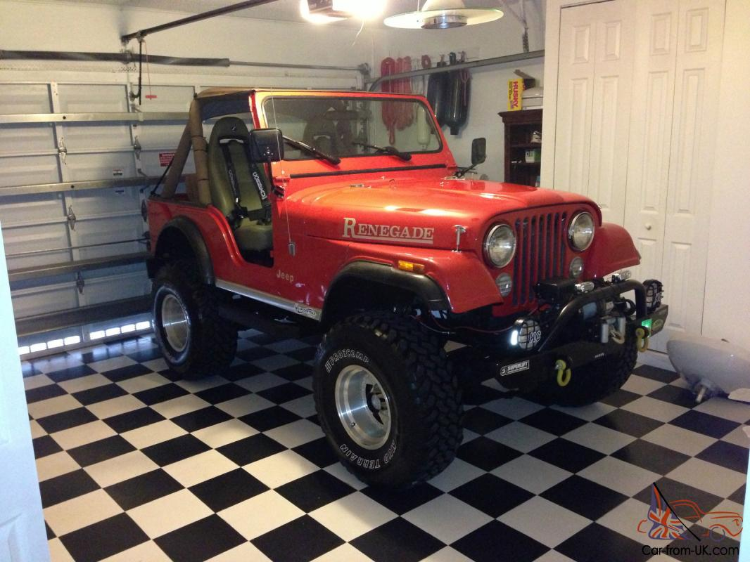 1976 Jeep AMC CJ5 Renegade V8 4x4 Red Lifted Custom e of