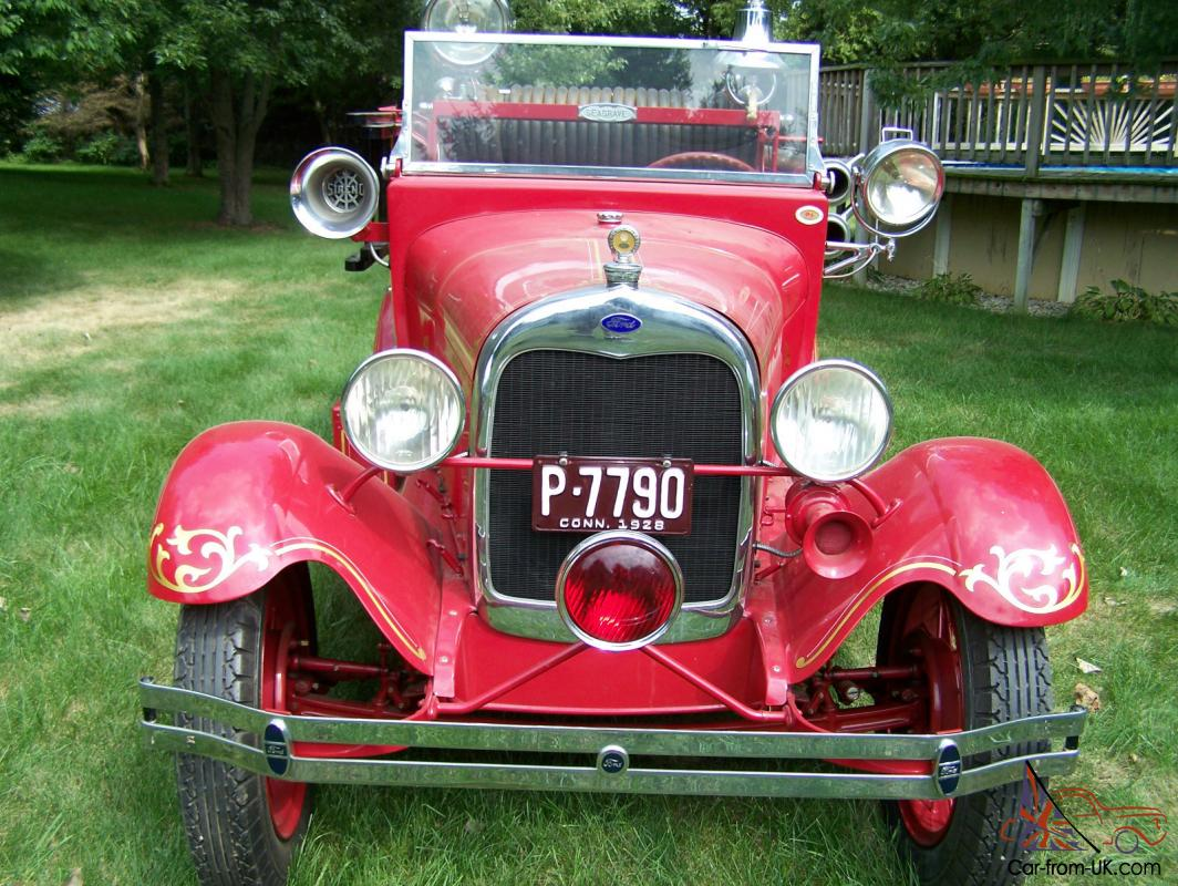 1928 Ford Model Aa Seagrave Fire Truck New Engine Restored Very Rare Starter Wire Diagram 2010 Apparatus Rstored