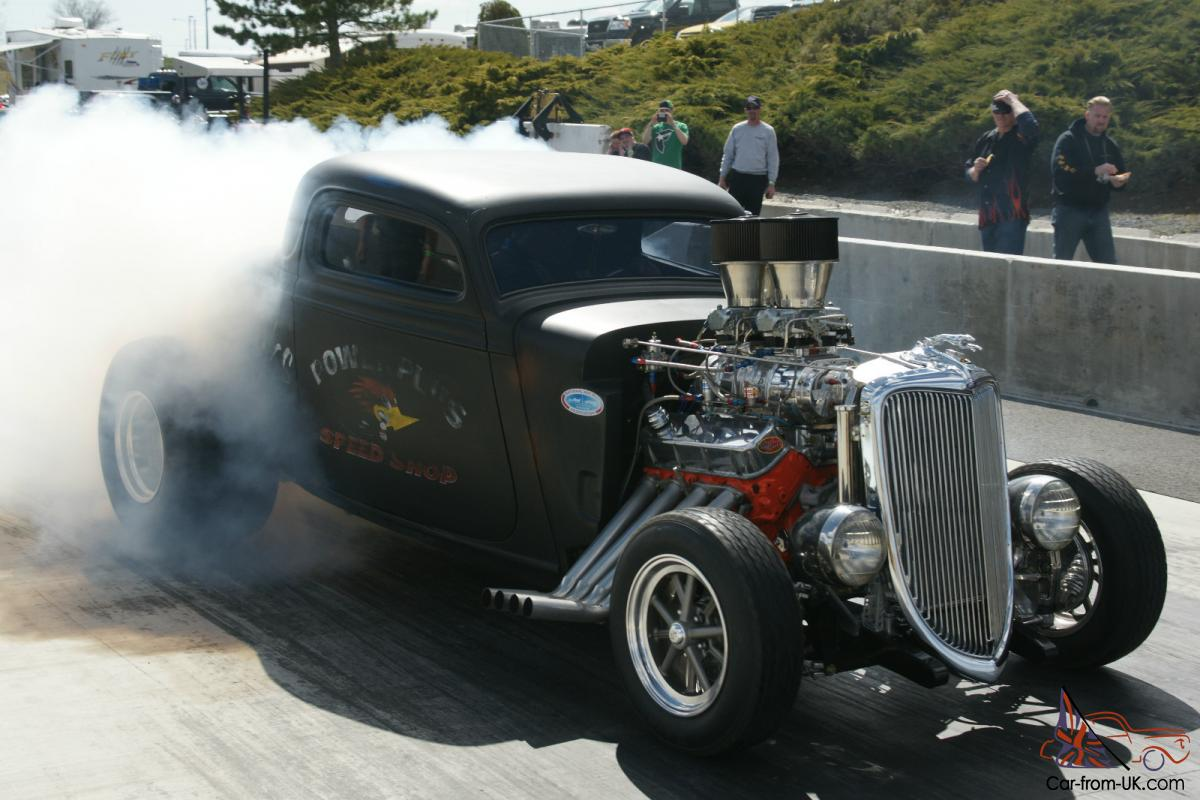 1934 Ford Three 3 Window Coupe Blown Gasser Hot Rod