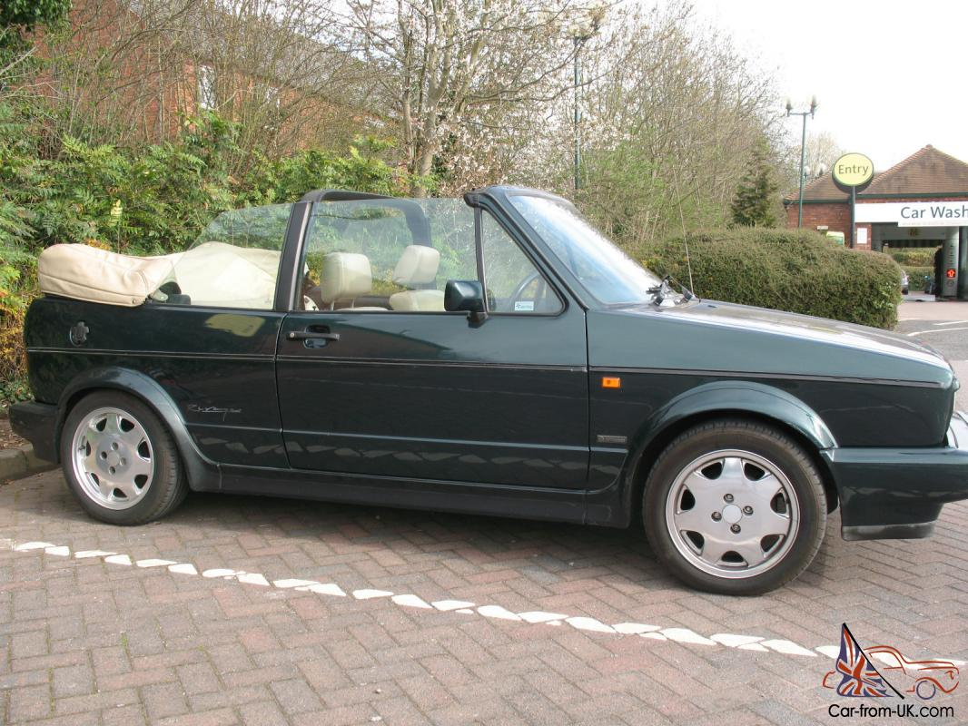golf mk1 rivage 1 8 gti cabriolet green with cream leather rare classic car. Black Bedroom Furniture Sets. Home Design Ideas