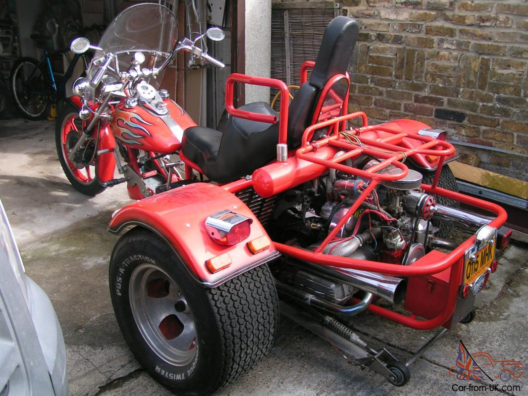 For sale 1300 vw trike good runner have done many modifications since purchasing in 2009 designed and made new seat which is built for comfort and long