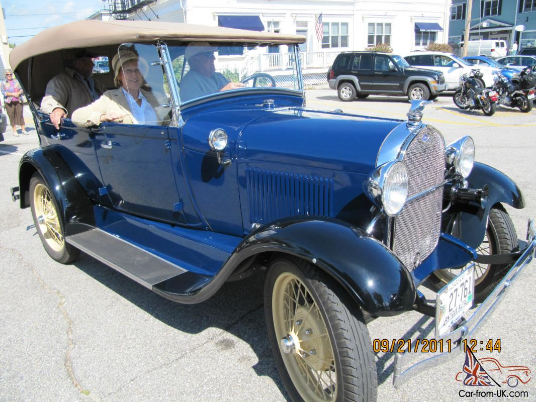 Ford Model A Phaeton Best Of Show Washington Blue With Black - Classic car show washington