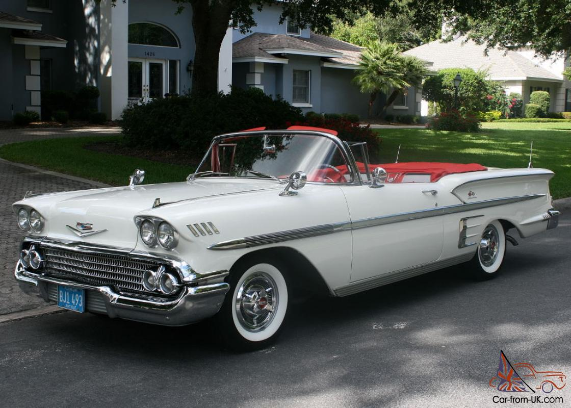 beautiful restored two owner 1958 chevrolet impala convertible tri power 348. Black Bedroom Furniture Sets. Home Design Ideas