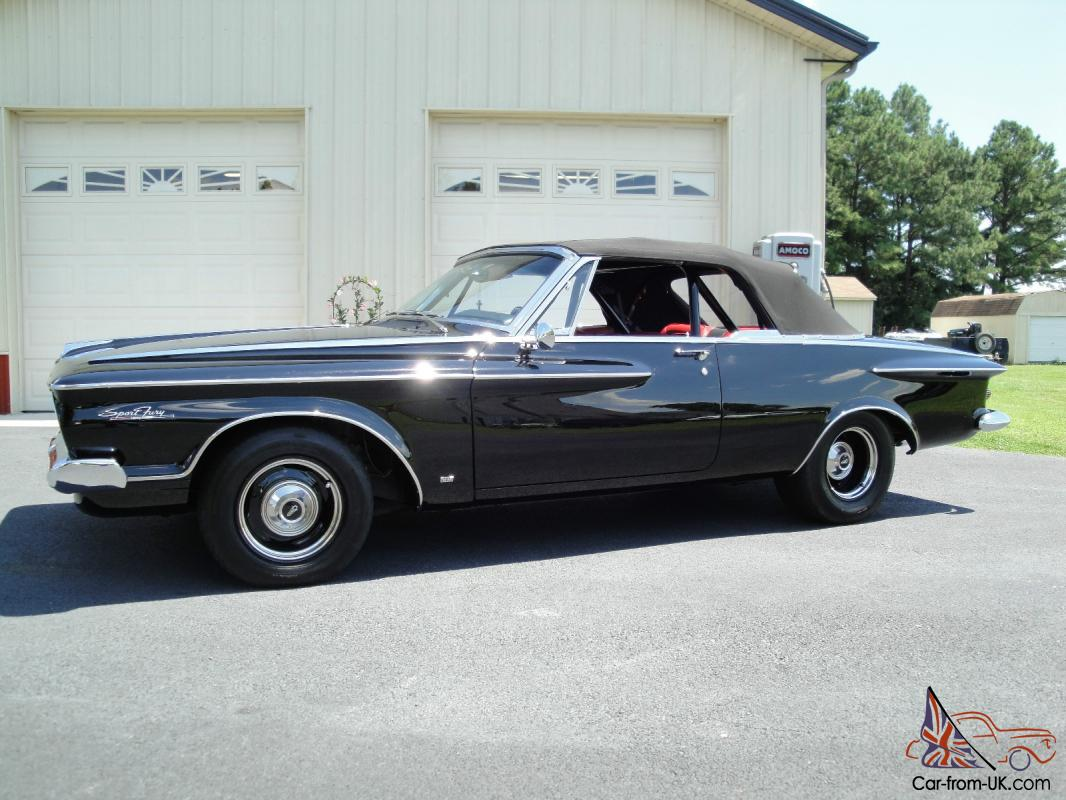 1962 plymouth sport fury convertible rare will never. Black Bedroom Furniture Sets. Home Design Ideas
