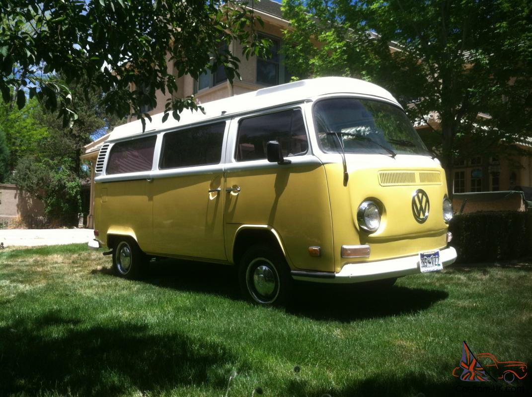 1972 restored vw bus westfalia camper yellow. Black Bedroom Furniture Sets. Home Design Ideas