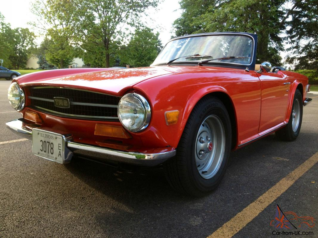 beautiful red 1974 triumph tr6 convertible. Black Bedroom Furniture Sets. Home Design Ideas