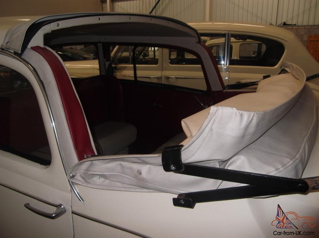 cream austin sheerline 1950 leather interior soft top roof classic wedding car. Black Bedroom Furniture Sets. Home Design Ideas