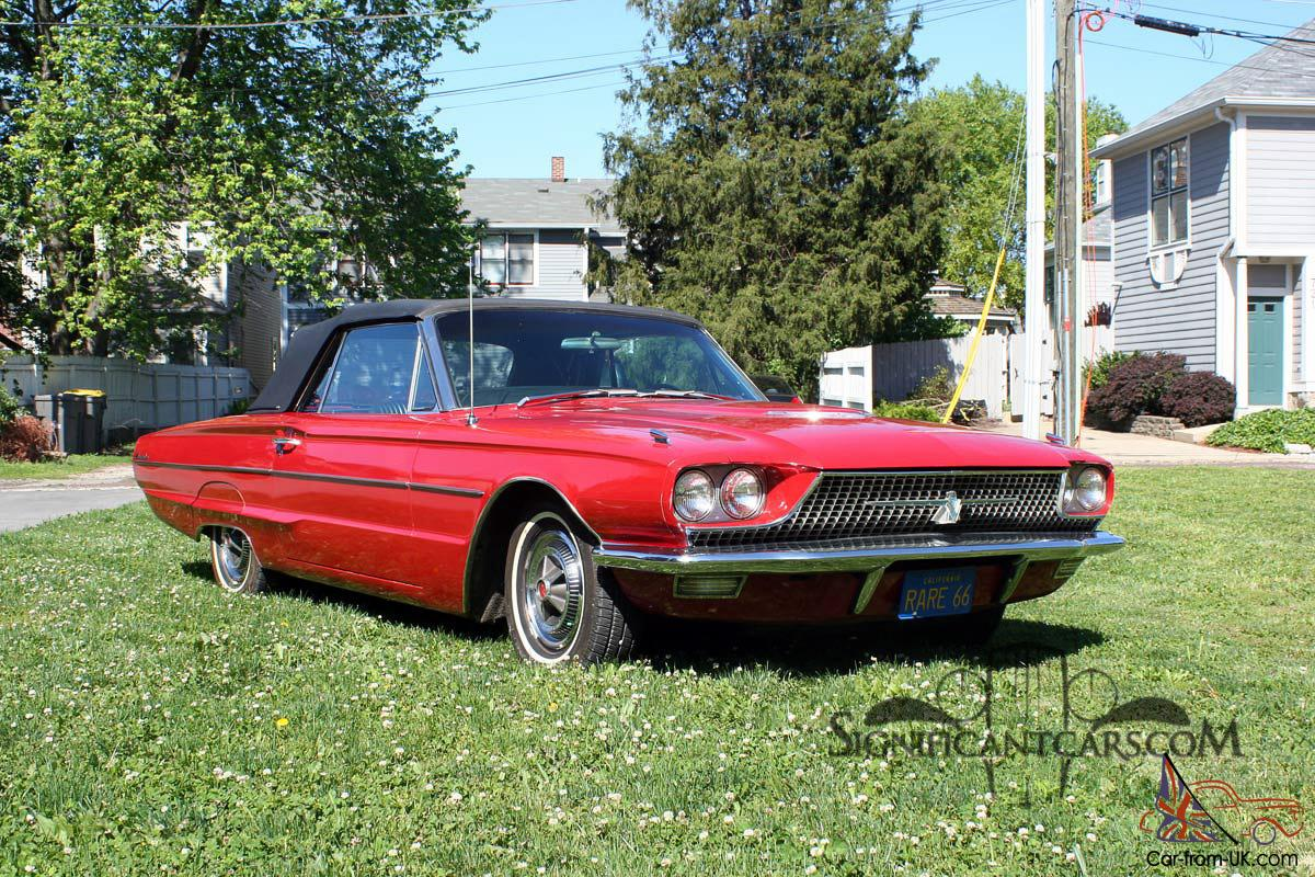 1966 ford thunderbird convertible rare q code 428 49k. Black Bedroom Furniture Sets. Home Design Ideas