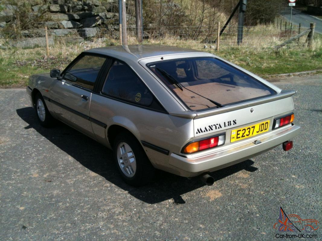 Opel Manta Berlinetta 1 8s Good Condition Tax And Test
