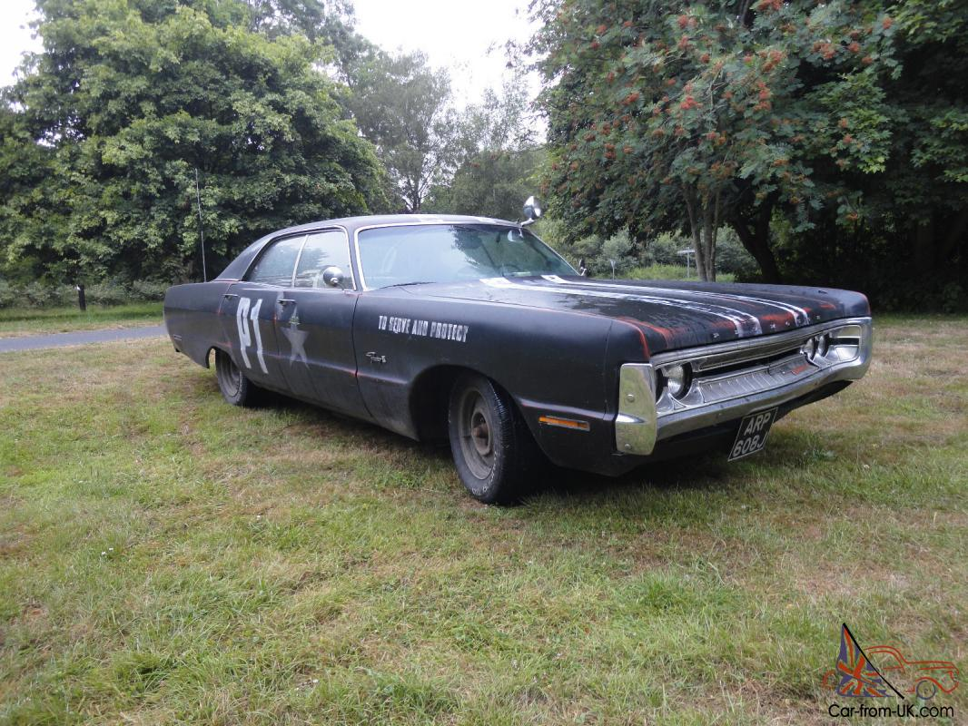 Plymouth Fury 3 Rat Rod Replica Police Car 1970 American Muscle Car