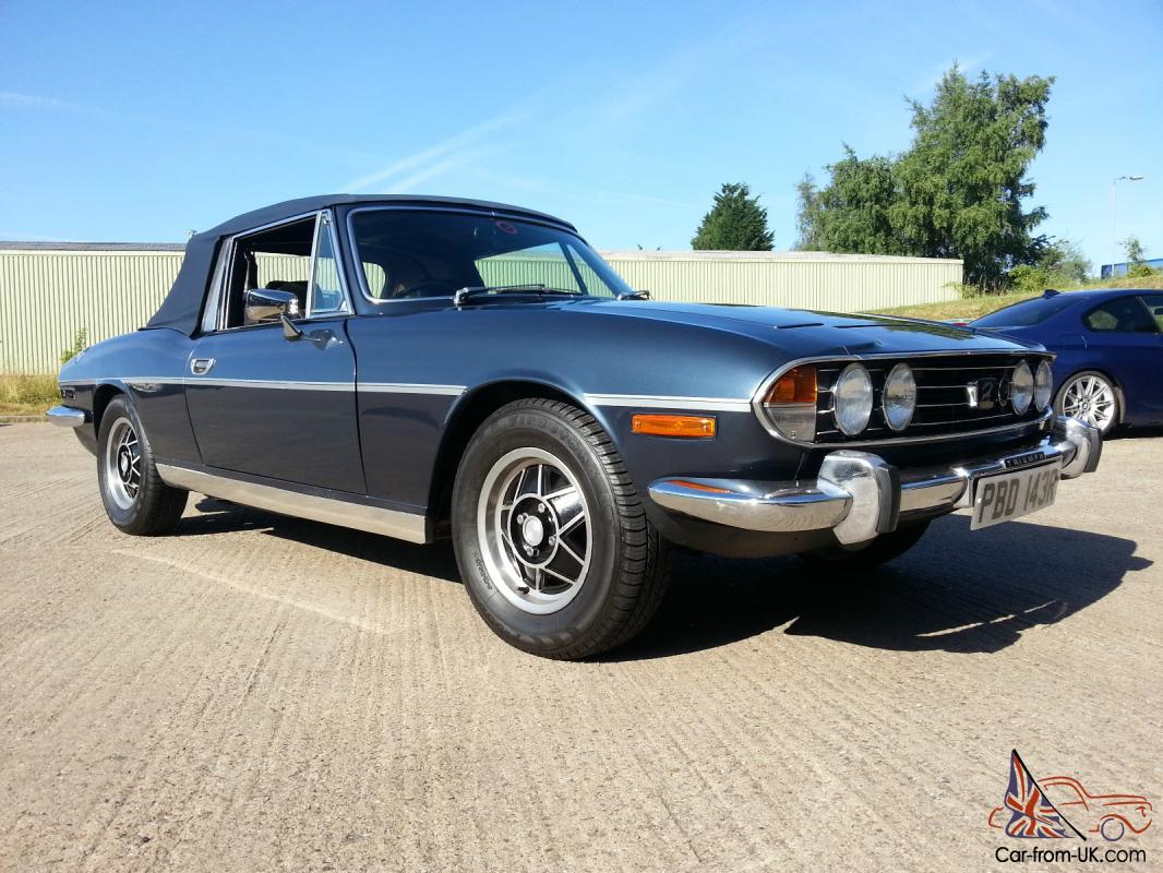 Triumph Stag Blue V8 Manual Overdrive Beautiful Example