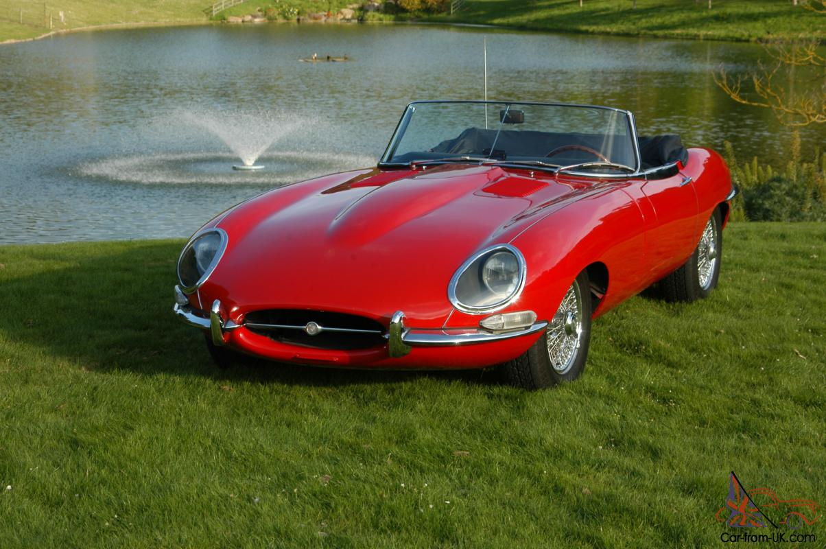 1965 jaguar e type convertible red. Black Bedroom Furniture Sets. Home Design Ideas