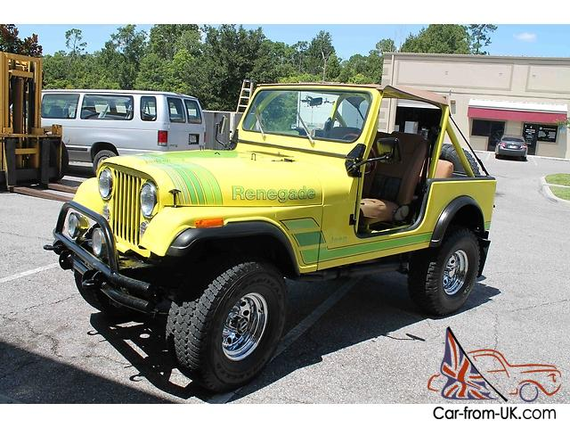 fl jeep cj 7 like new must see custom restored v8 gorgeous. Black Bedroom Furniture Sets. Home Design Ideas