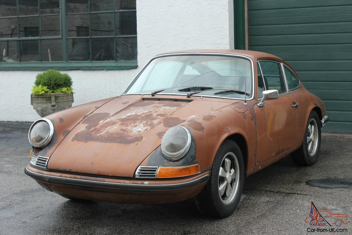 Porsche 911t 2 4l coupe brown 1972 lhd classic restoration project