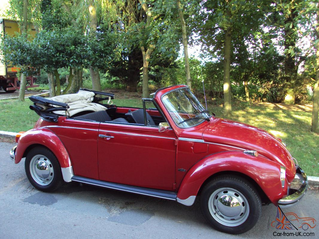 vw beetle karmann cabriolet volkswagen 1303 s red convertible. Black Bedroom Furniture Sets. Home Design Ideas