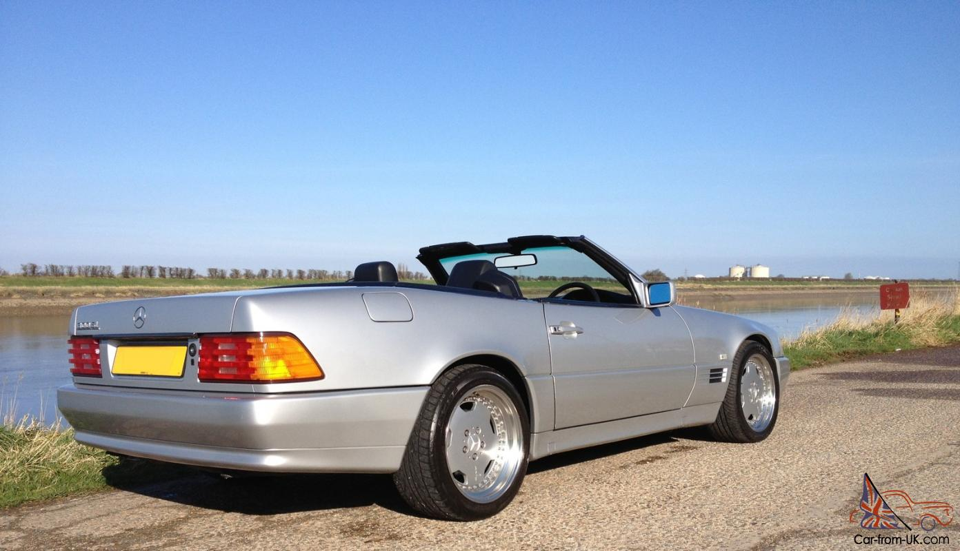 1991 Mercedes 300 Sl Convertible Auto Silver Hardtop Amg Polished Split Rims